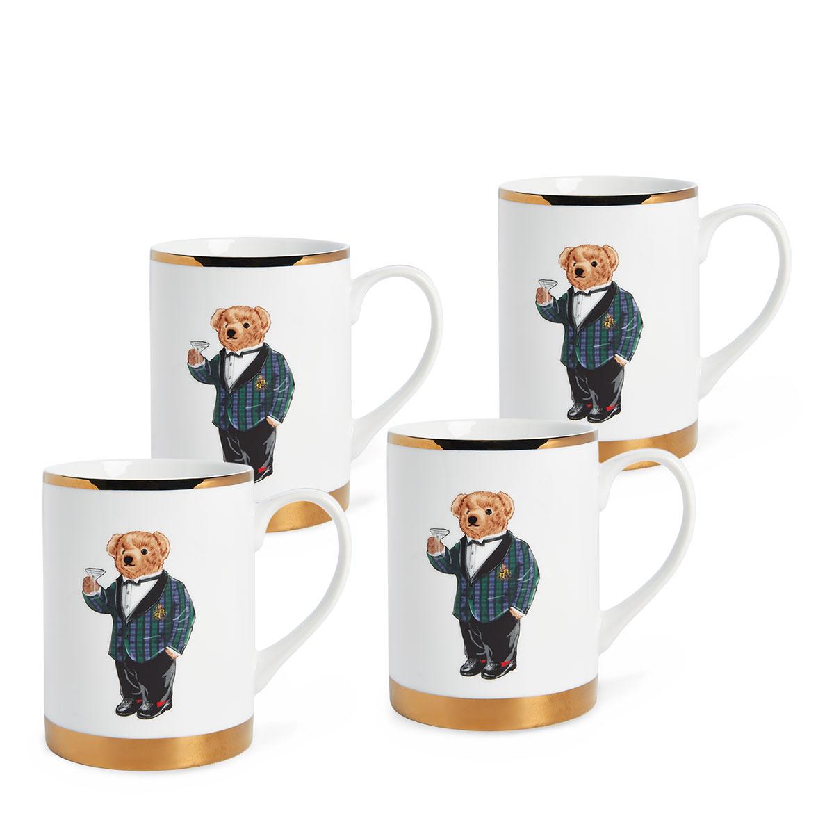 Ralph Lauren China Thompson Set of Four Mugs