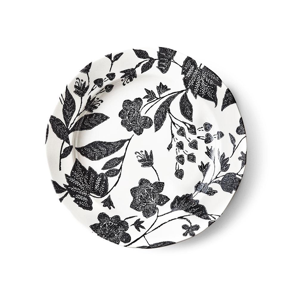Ralph Lauren China Garden Vine Salad Plate Single, Black