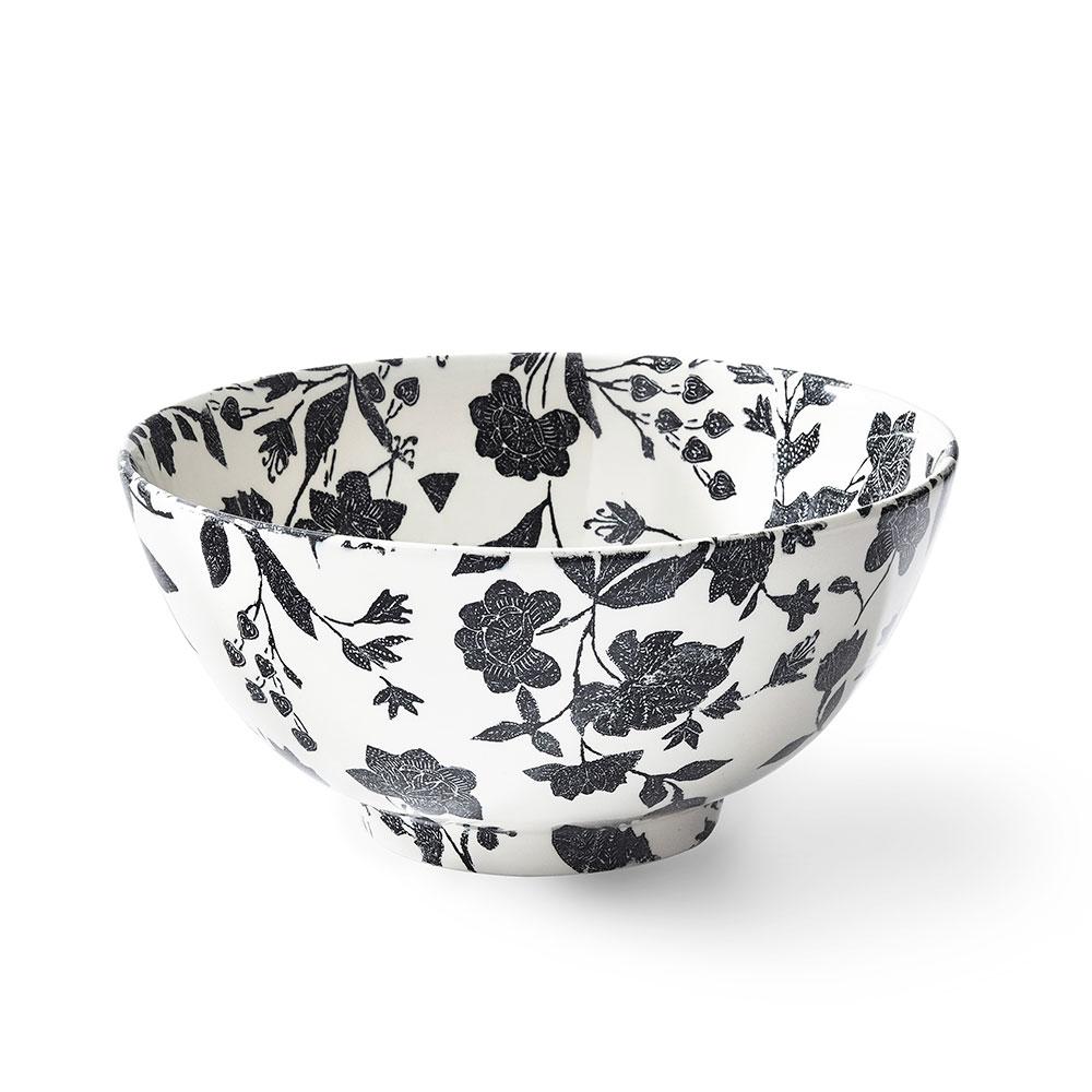 Ralph Lauren China Garden Vine Large Footed Bowl, Black
