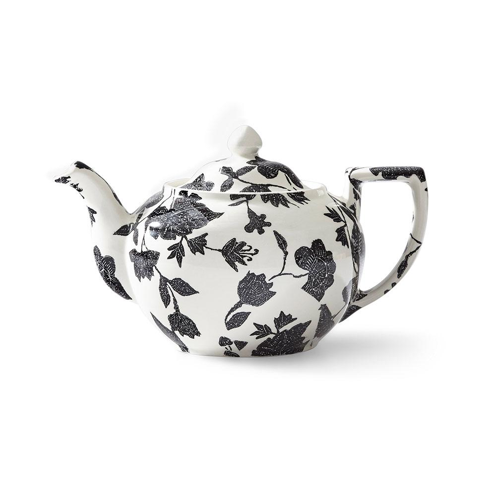 Ralph Lauren China Garden Vine Teapot, Black