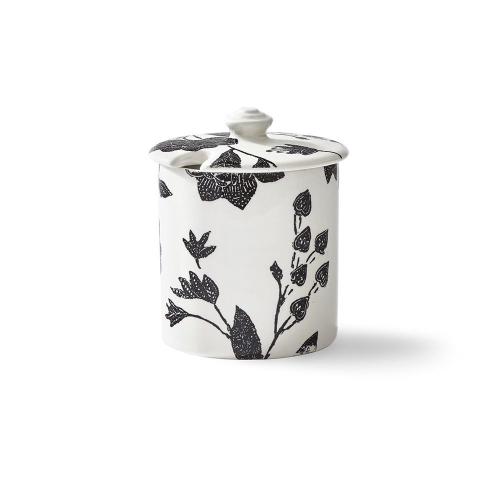 Ralph Lauren China Garden Vine Sugar Pot, Black