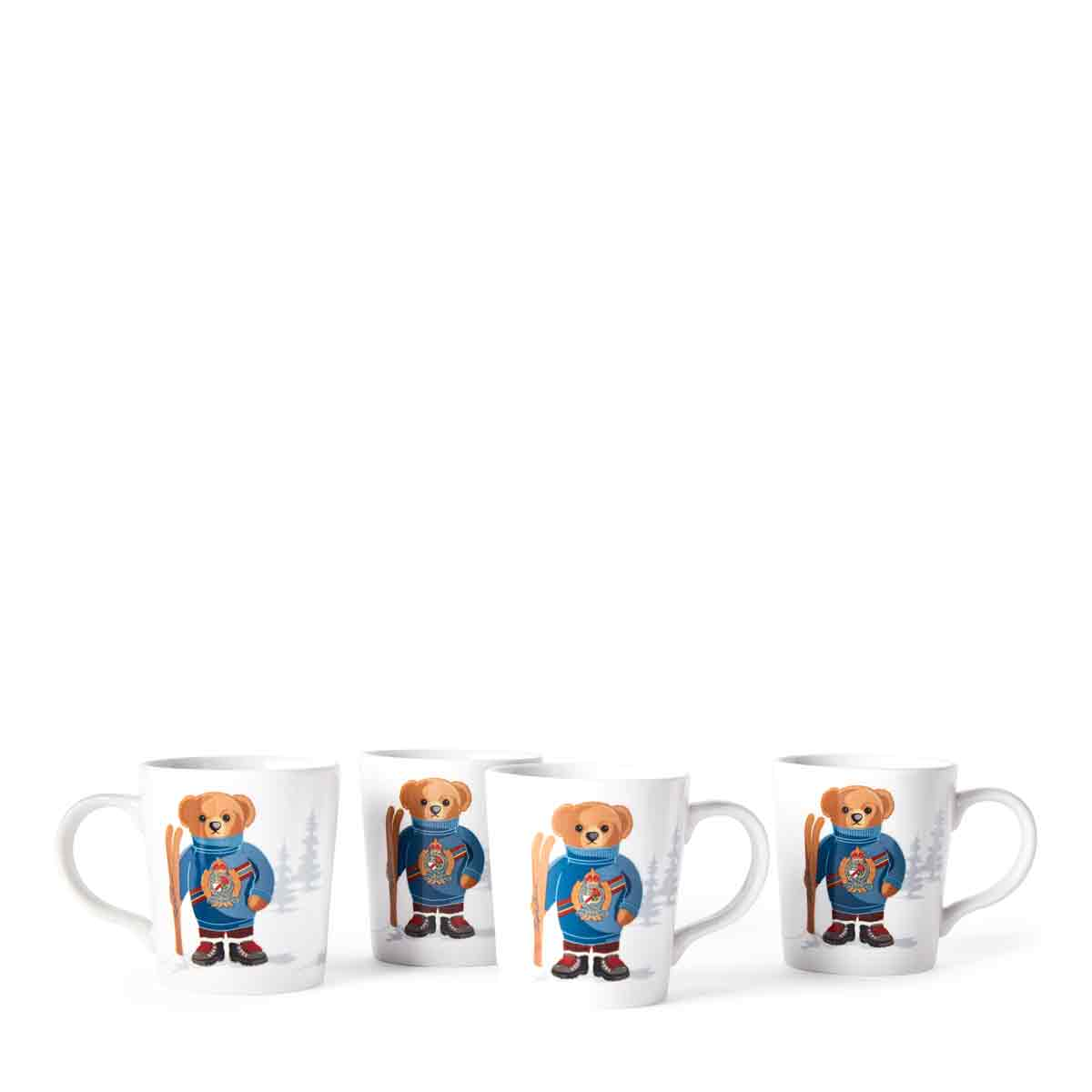 Ralph Lauren China, Haven Ski Bear Set of Four Mugs
