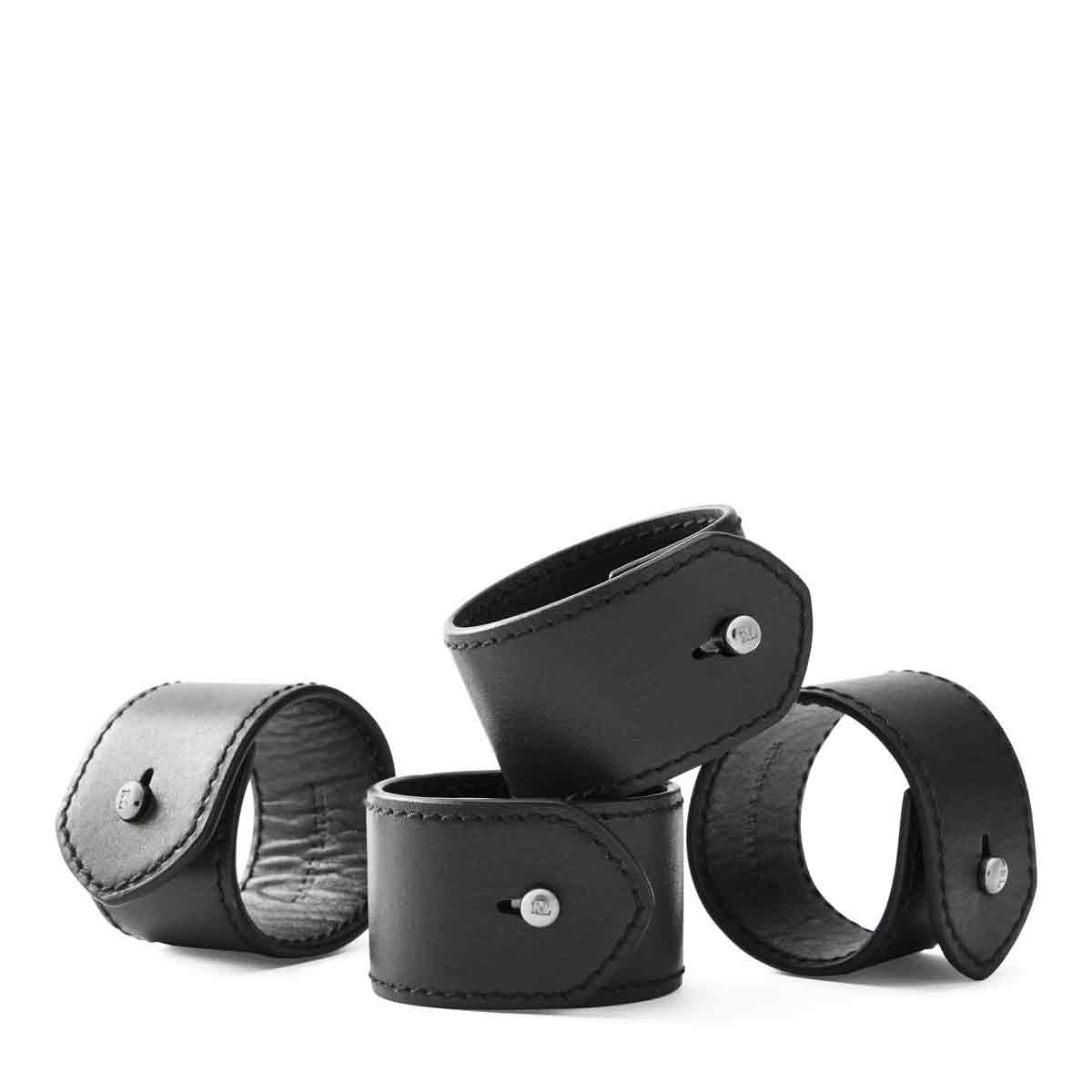 Ralph Lauren Wyatt Set of Four Napkin Rings, Black
