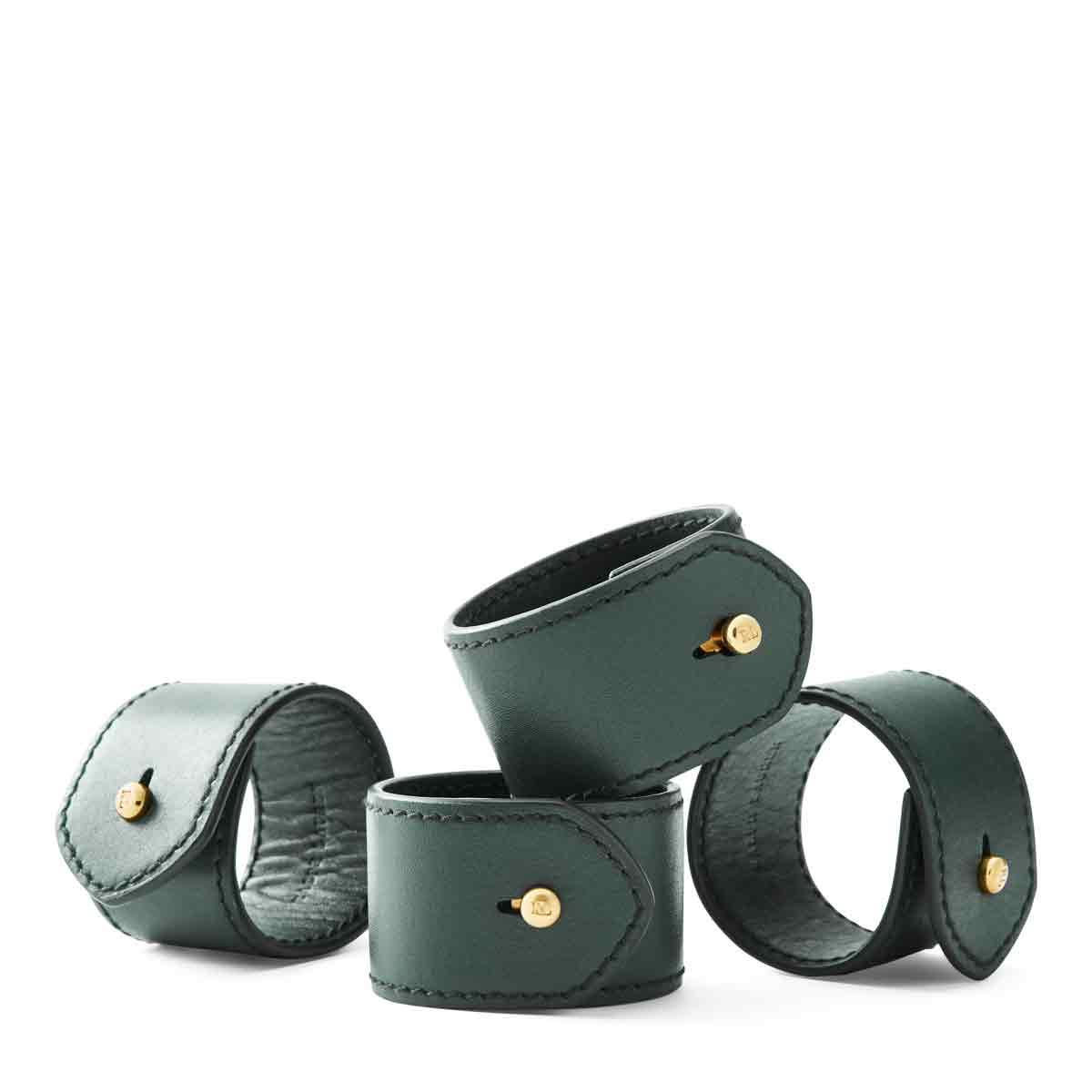 Ralph Lauren Wyatt Set of Four Napkin Rings, Green