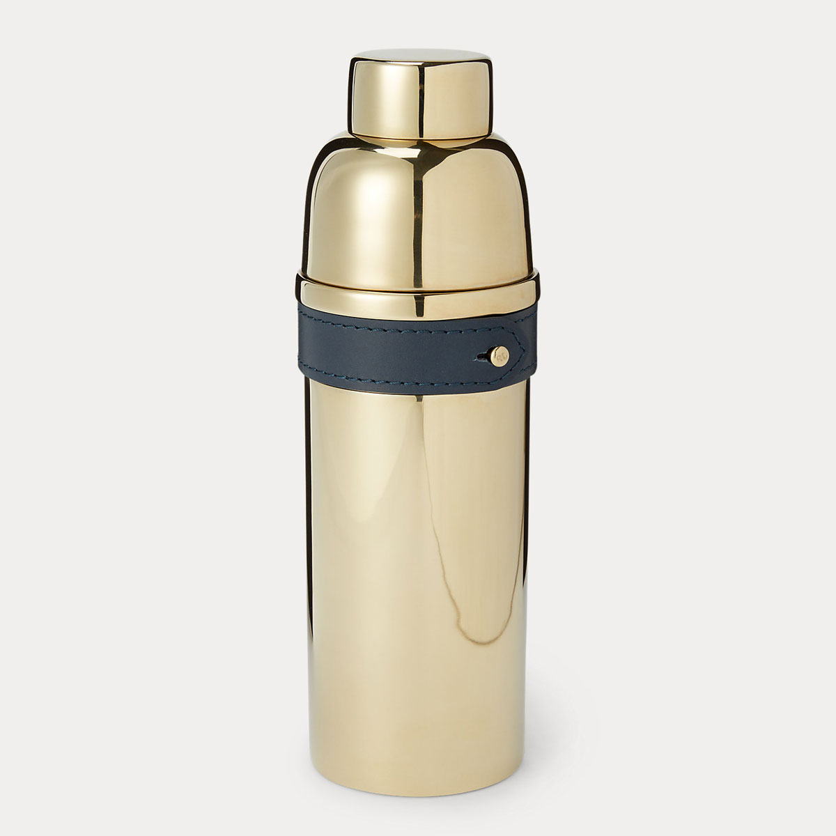 Ralph Lauren Wyatt Cocktail Shaker, Navy and Gold