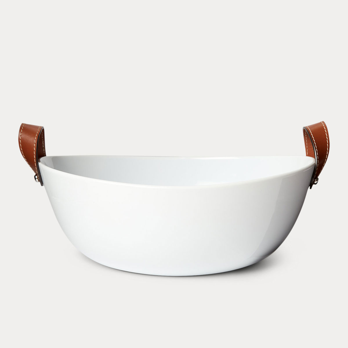 Ralph Lauren China Wyatt Salad Bowl, Saddle