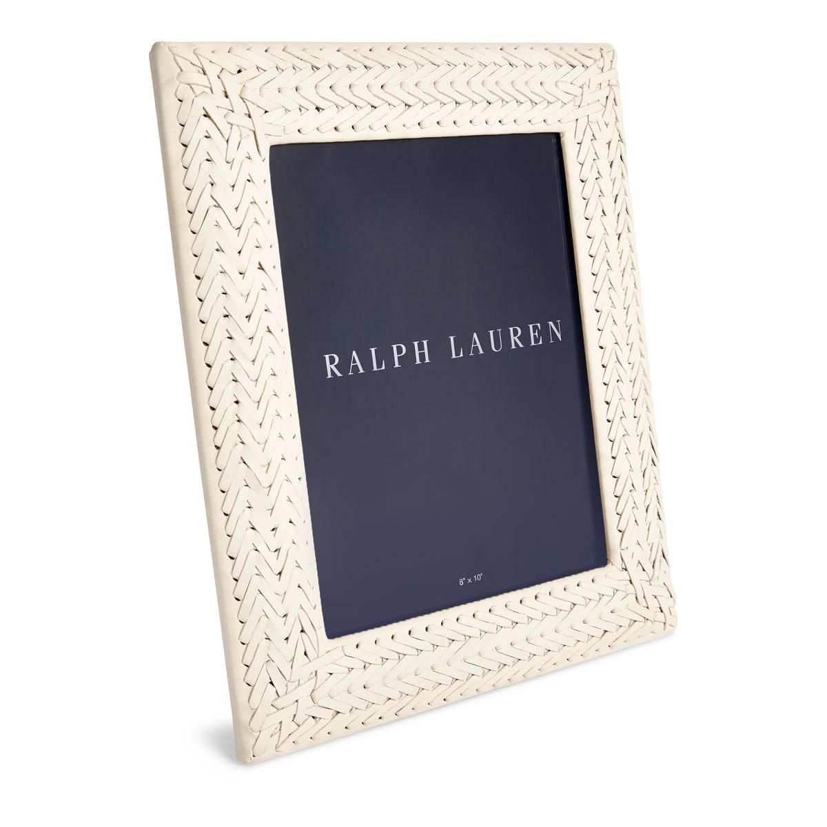 """Ralph Lauren Adrienne 5""""x7"""" Picture Frame, Cream"""