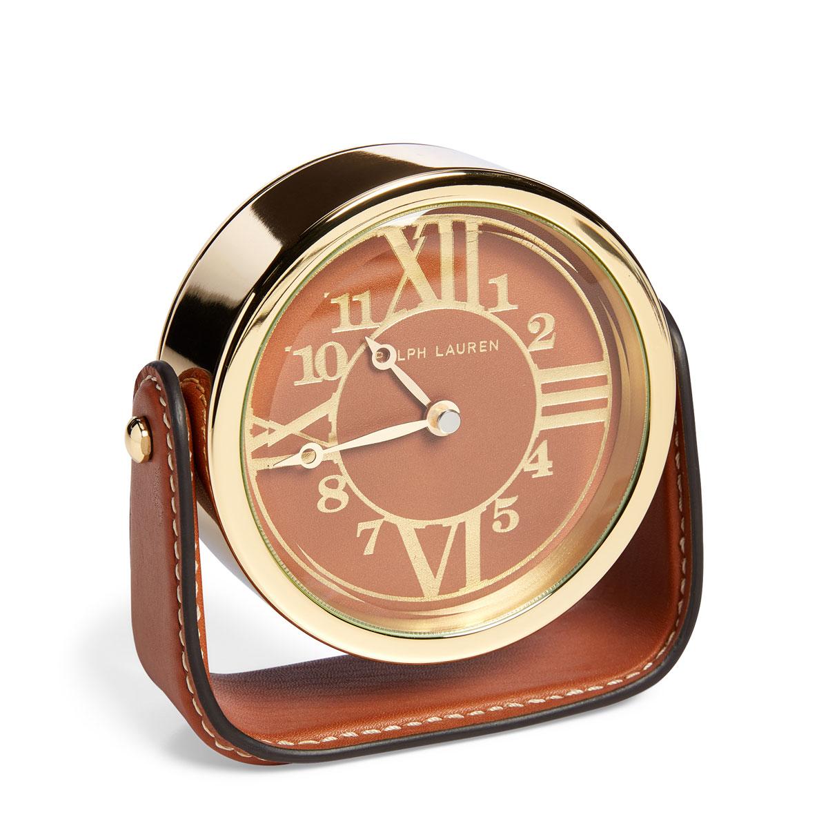 Ralph Lauren Brennan Clock, Saddle