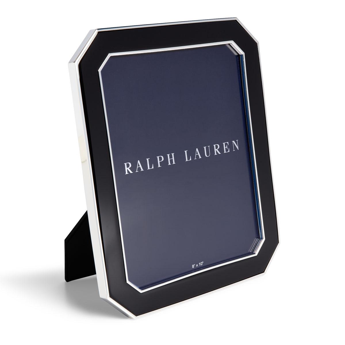 """Ralph Lauren Becker 8""""x10"""" Frame, Black and Silver"""