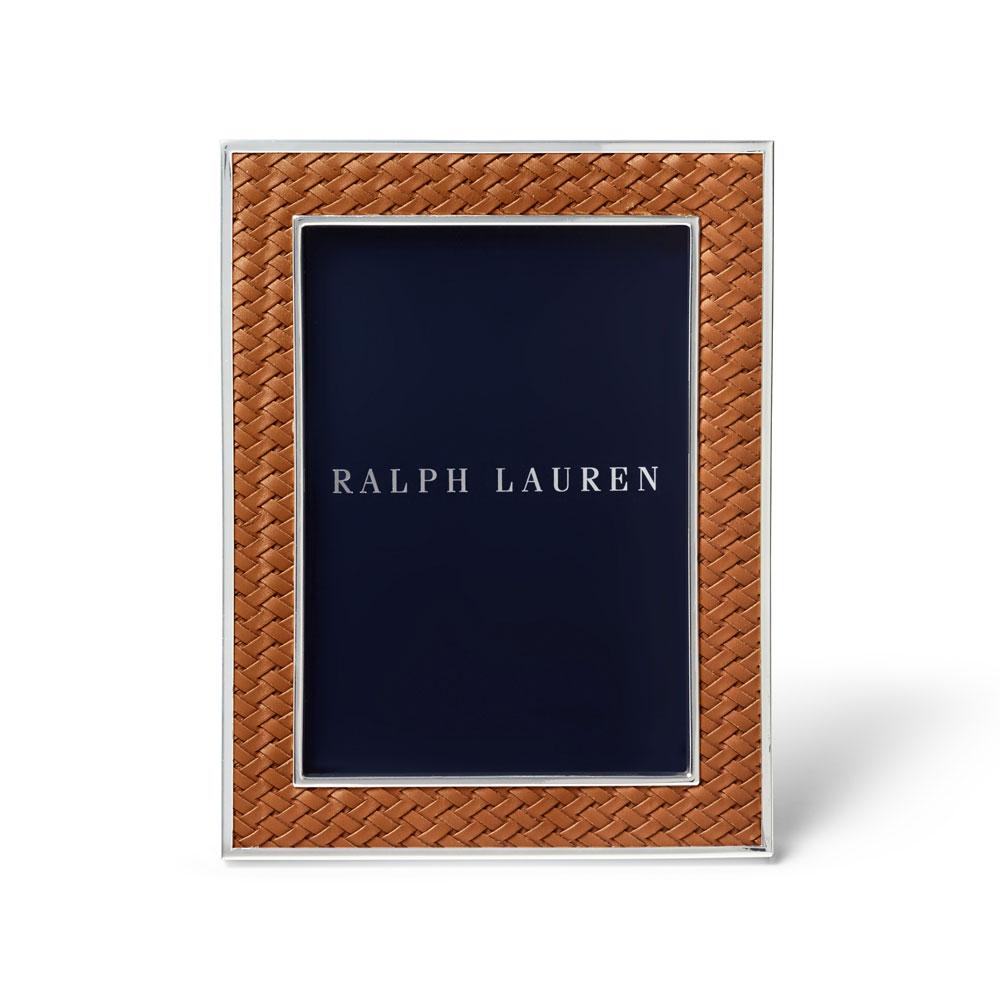 """Ralph Lauren Brockton 5""""x7"""" Frame, Saddle"""