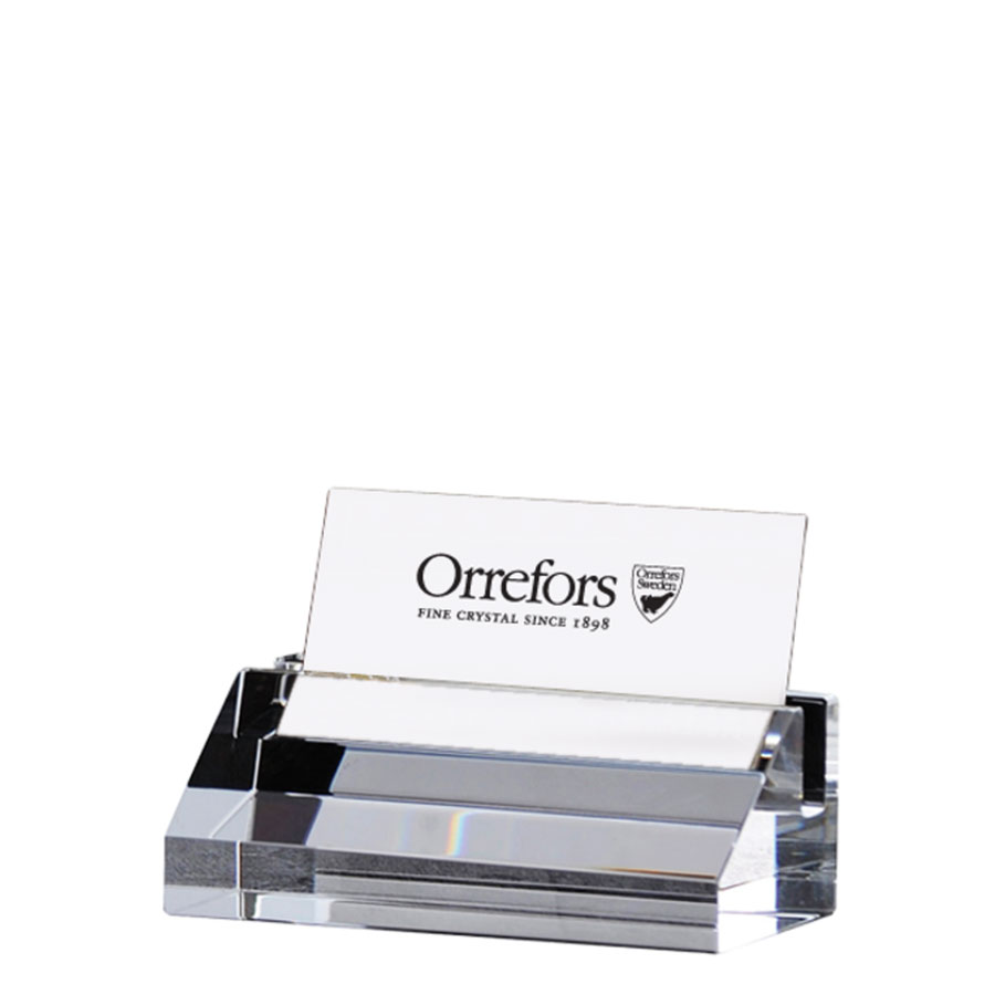 Orrefors Crystal, Wall Street Business Card Holder