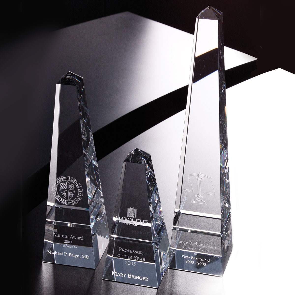 Orrefors Crystal, Monument Award, Small
