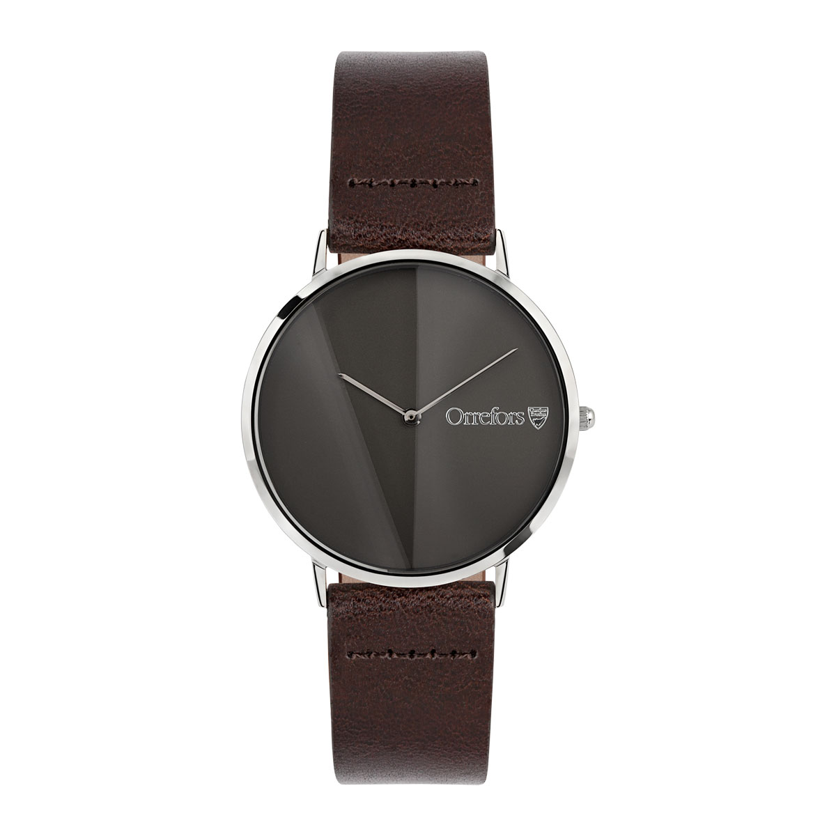 Orrefors Crystal O-Time Brandy Gunmetal Dial Watch