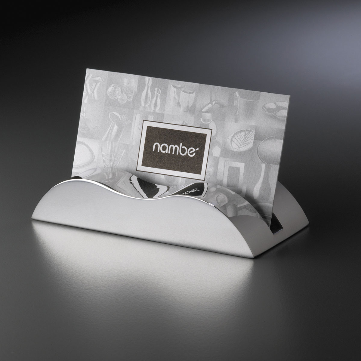 Nambe Metal Wave Business Card Holder