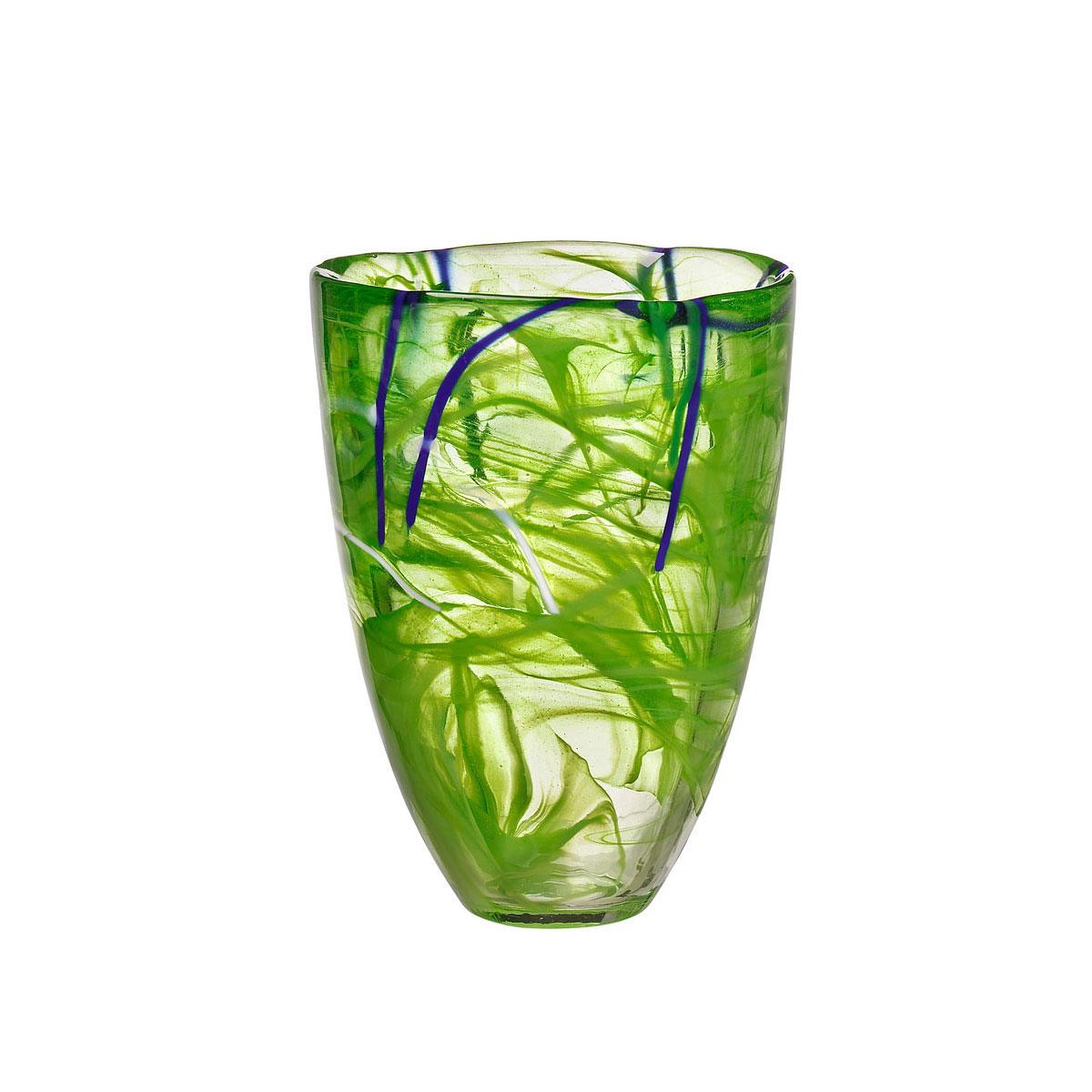 Kosta Boda Contrast Crystal Vase, Lime