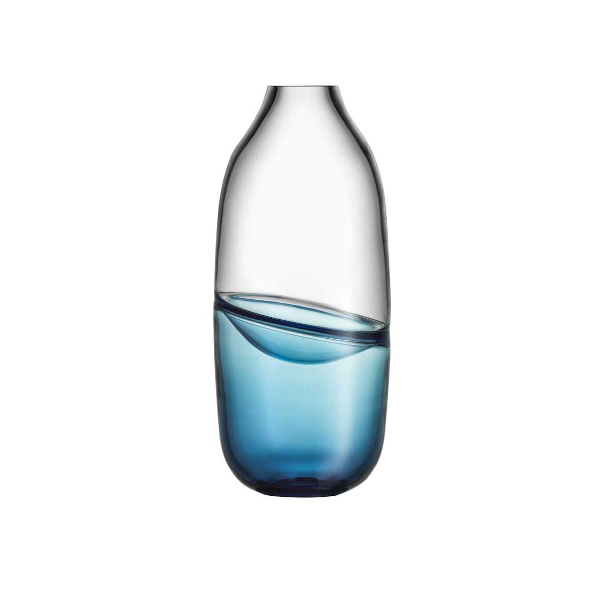 Kosta Boda Art Glass, Mattias Stenberg Septum Vase, Steel Blue, Limited Edition of 300