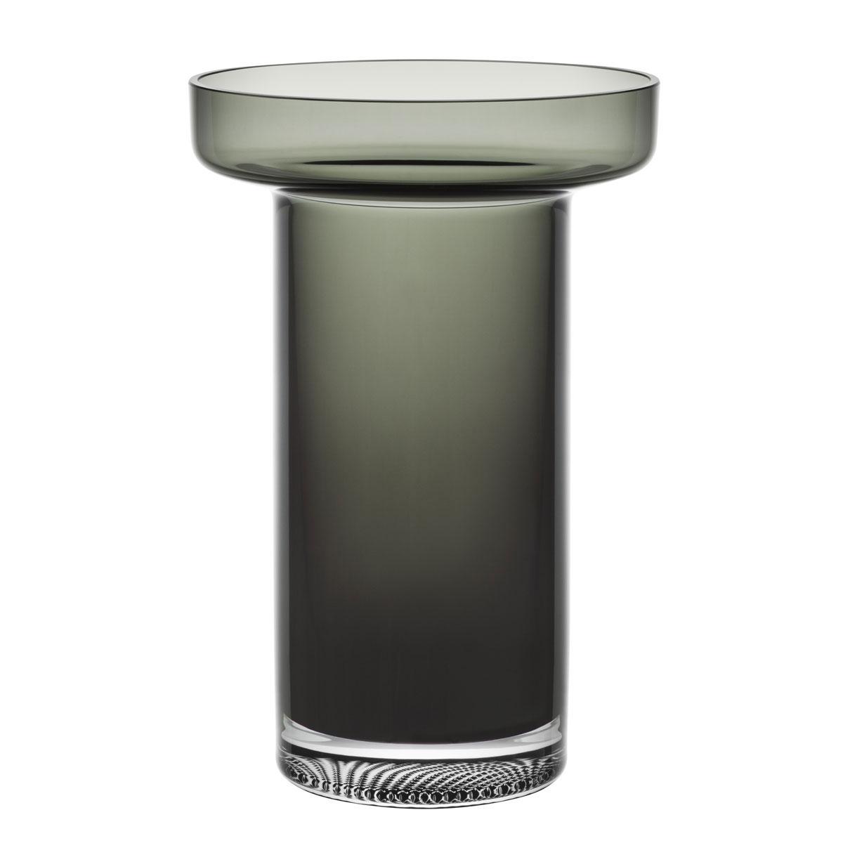 Kosta Boda Limelight Rose Vase Smoke Grey
