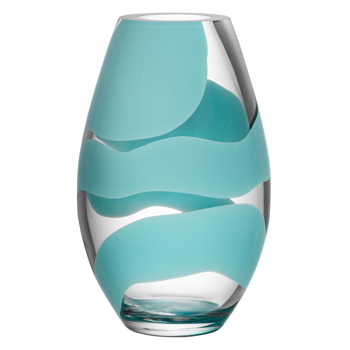 Kosta Boda Non Stop Turquoise Vase