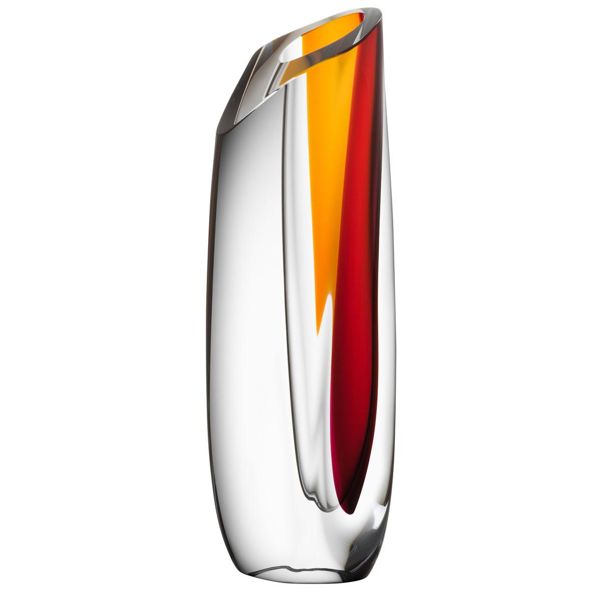 Kosta Boda Saraband Vase Red, Amber