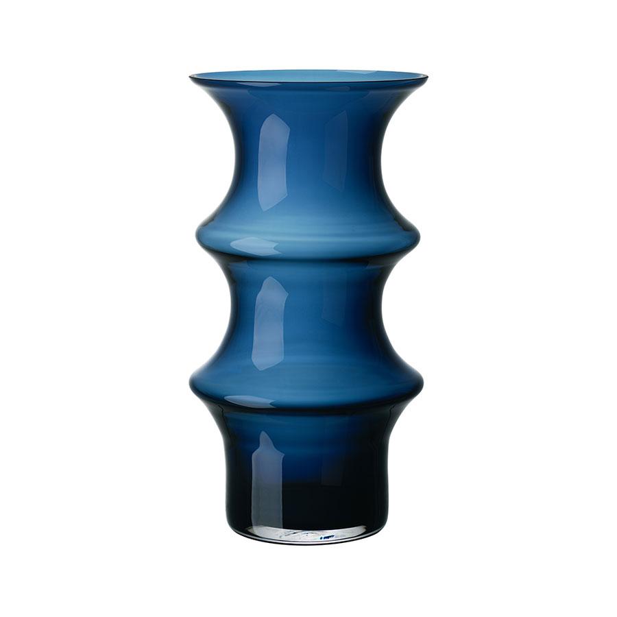 Kosta Boda Pagod Large Vase, Petrol Blue