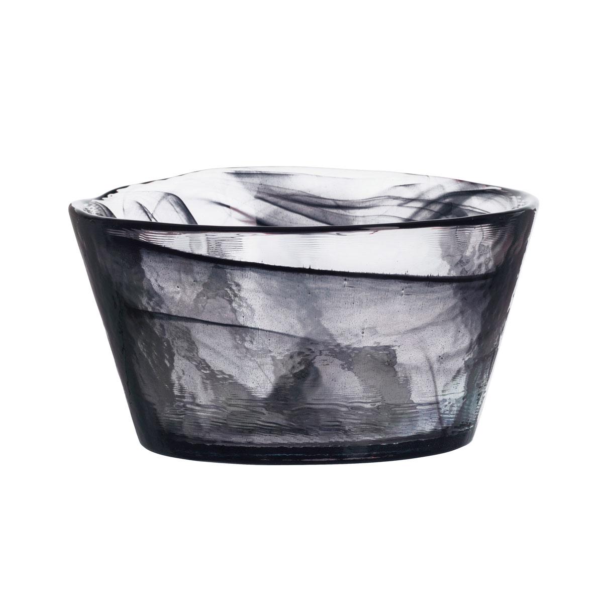"Kosta Boda Crystal Mine Black 5.25"" Bowl"