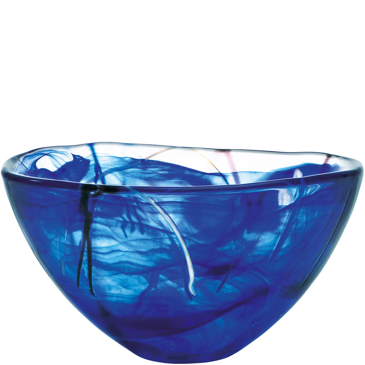 Kosta Boda Contrast Medium Crystal Bowl, Blue