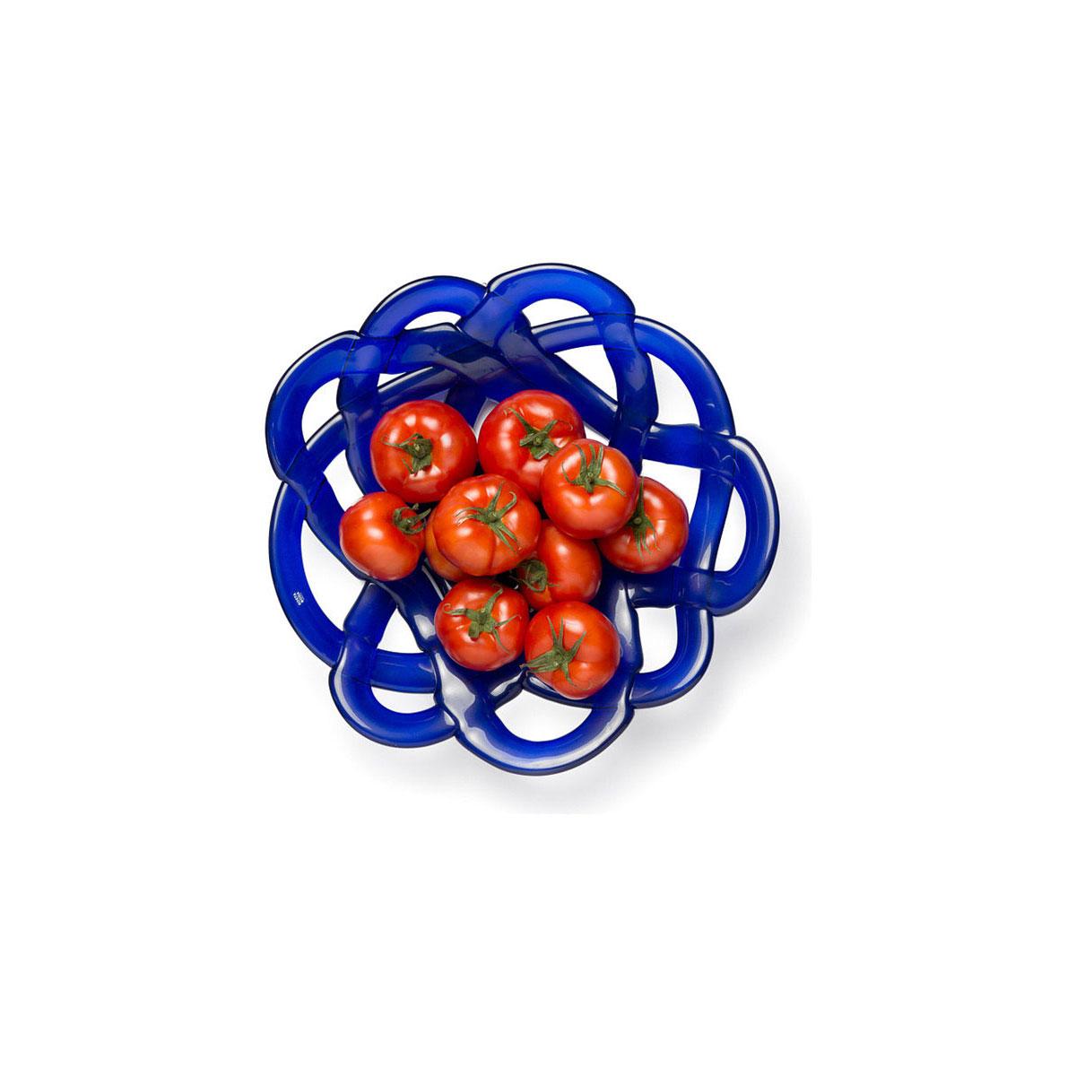 Kosta Boda Small Basket, Blue