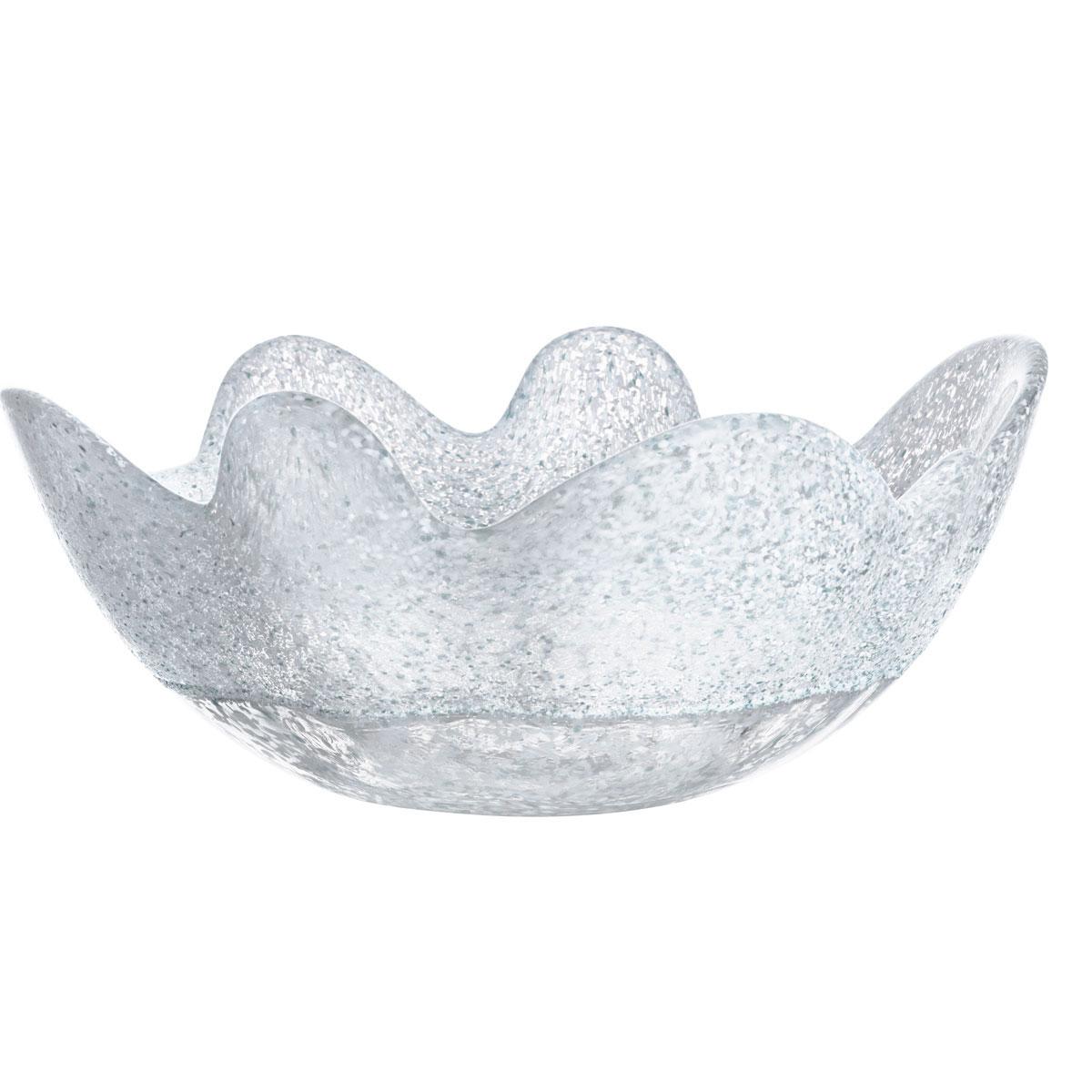 Kosta Boda Organix Medium Crystal Bowl, Frosty White