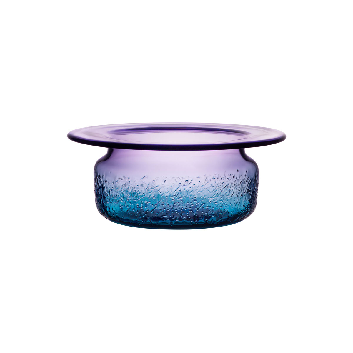 Kosta Boda Aurora Blue and Violet Crystal Bowl