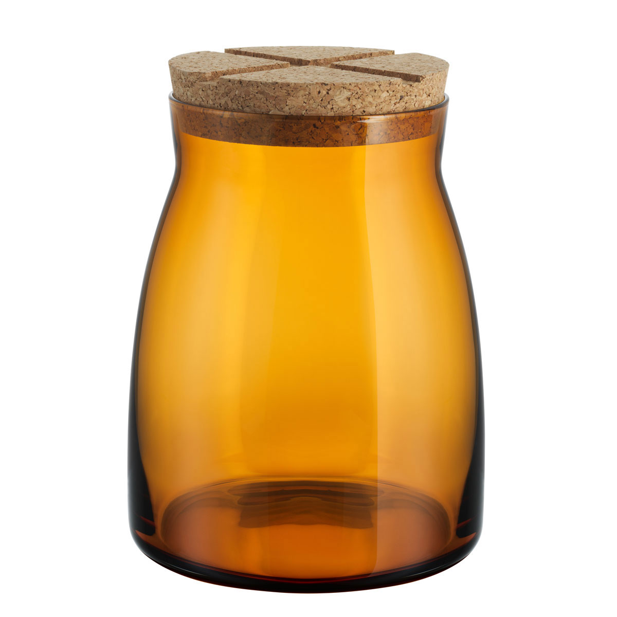 Kosta Boda Bruk Jar with Cork Amber, Large