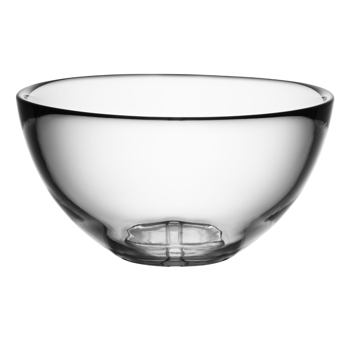 Kosta Boda Bruk Crystal Large Serving Bowl, Clear
