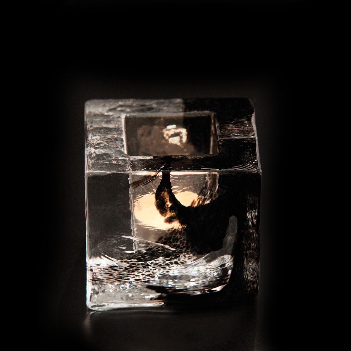 Kosta Boda Brick Crystal Votive, Black