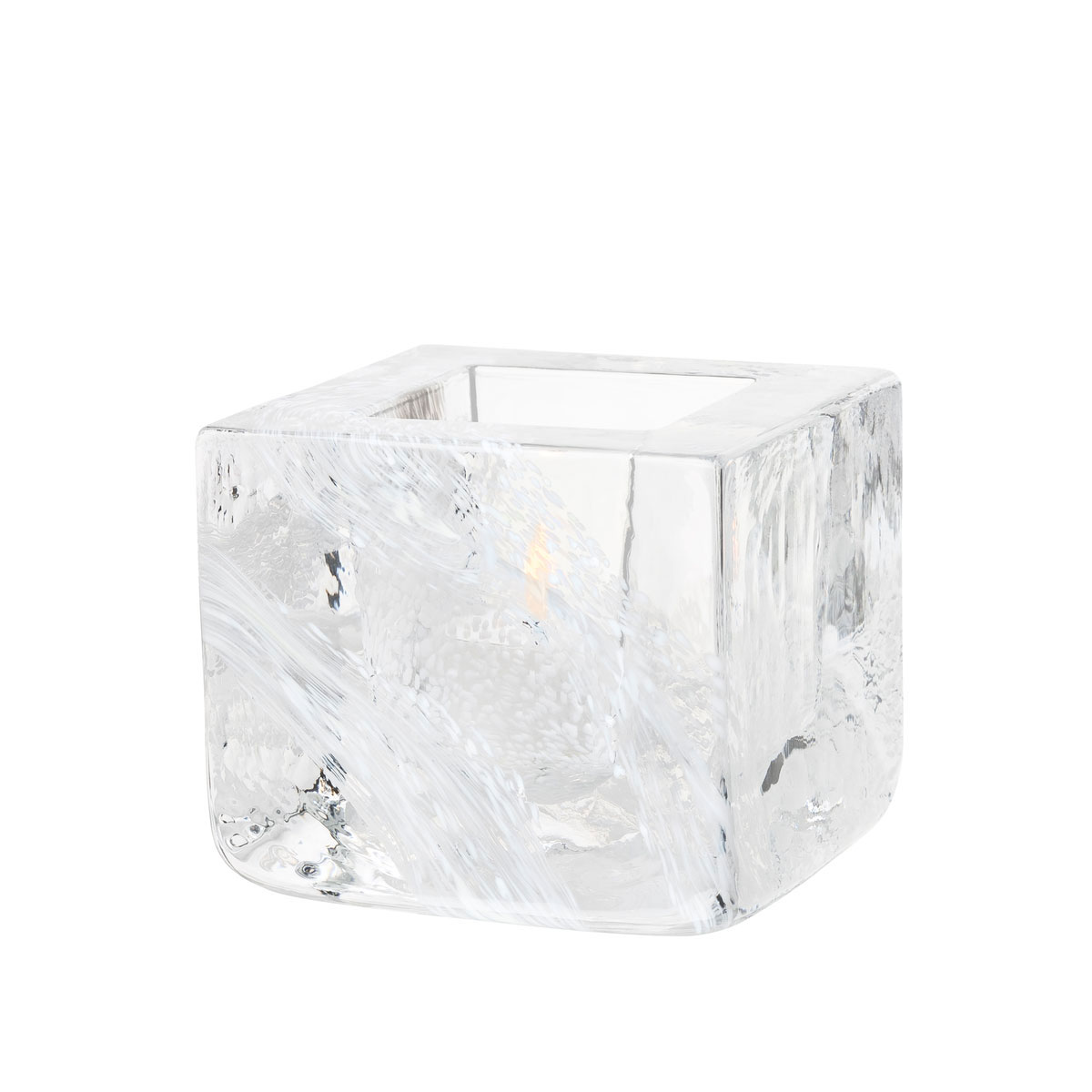 Kosta Boda Brick Crystal Votive, White
