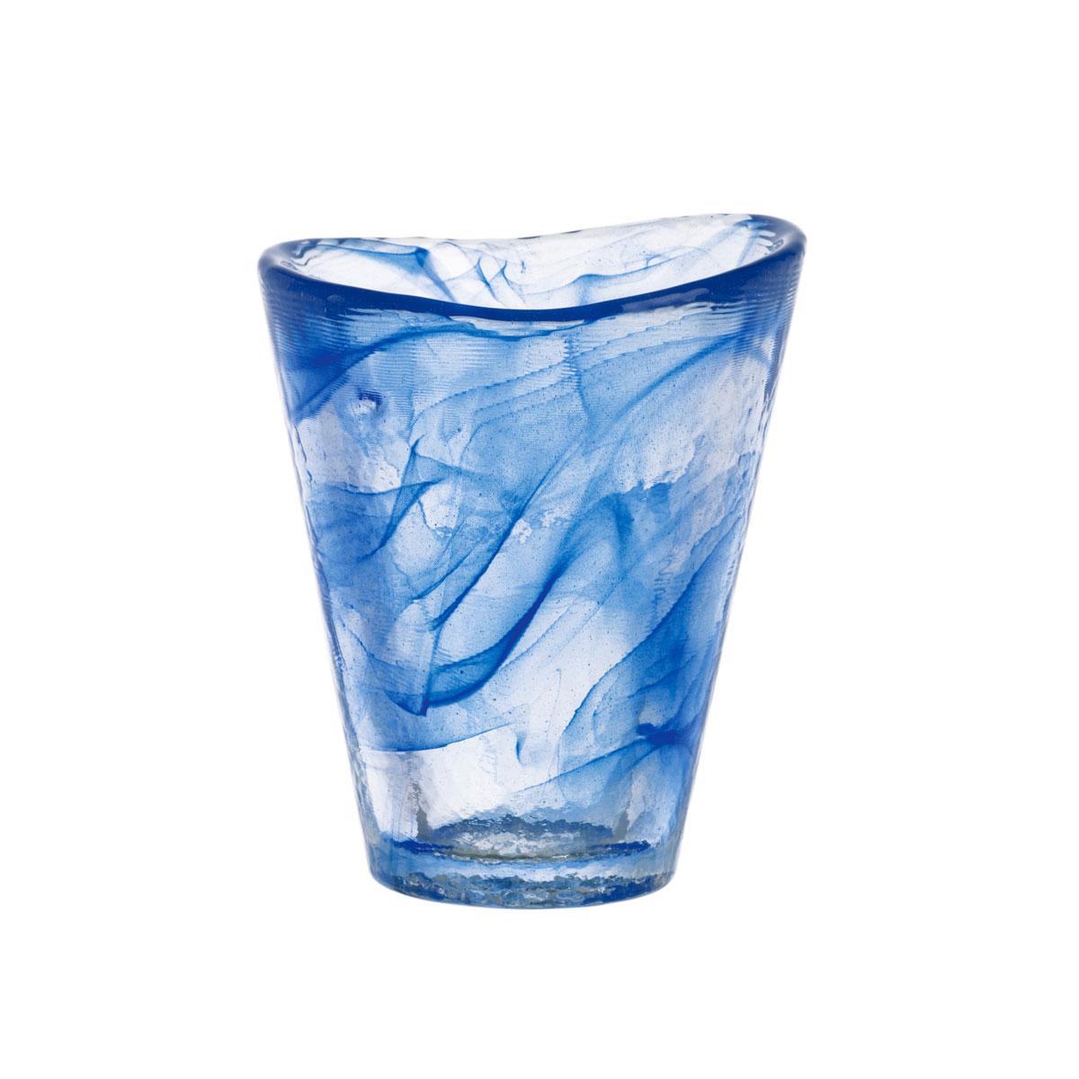 Kosta Boda Crystal Mine Blue Tumbler, Single