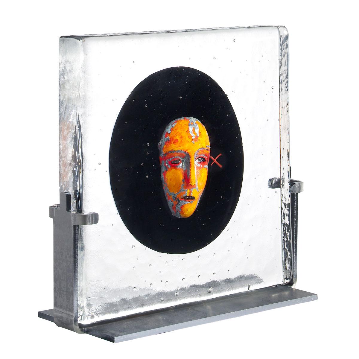 Kosta Boda Crystal Black Elements Black Moon Sculpture