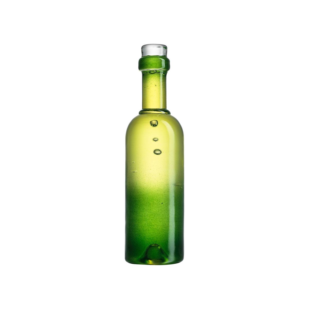 Kosta Boda Celebrate Crystal Wine Bottle, Green