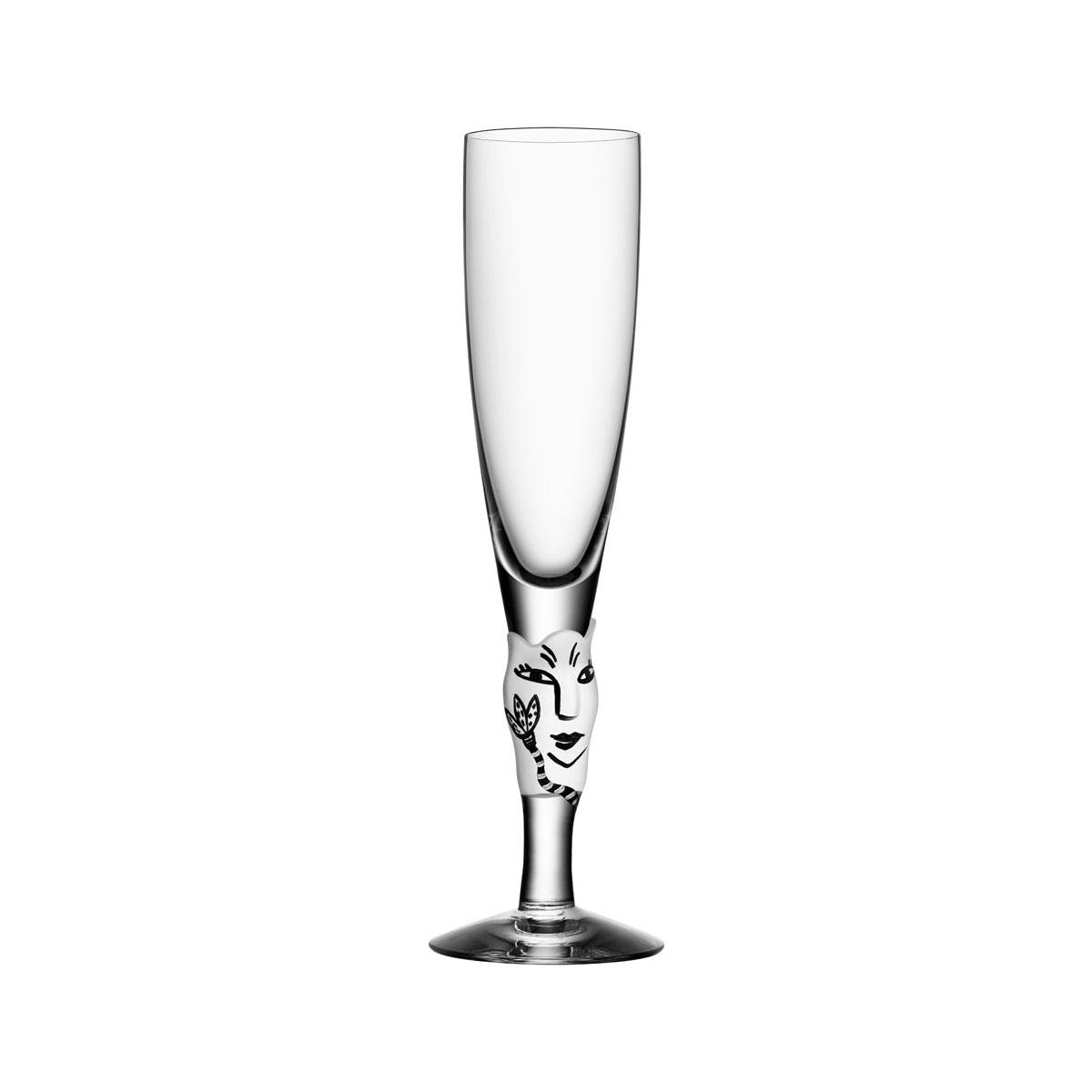 Kosta Boda Open Minds Crystal Champagne, White, Single