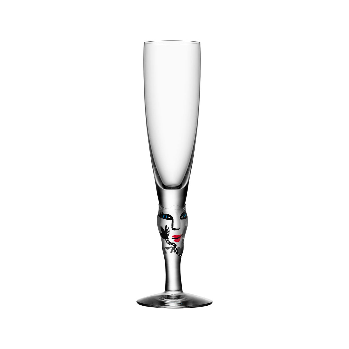 Kosta Boda Open Minds Crystal Champagne, Clear, Single