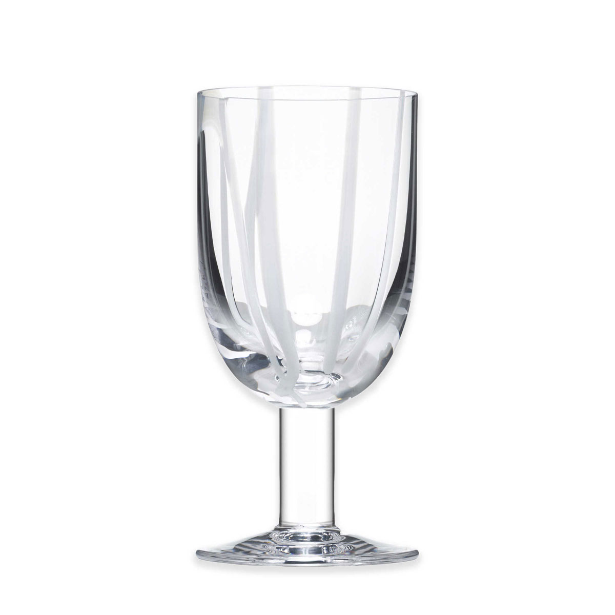 Kosta Boda Contrast Crystal Wine Glass, White