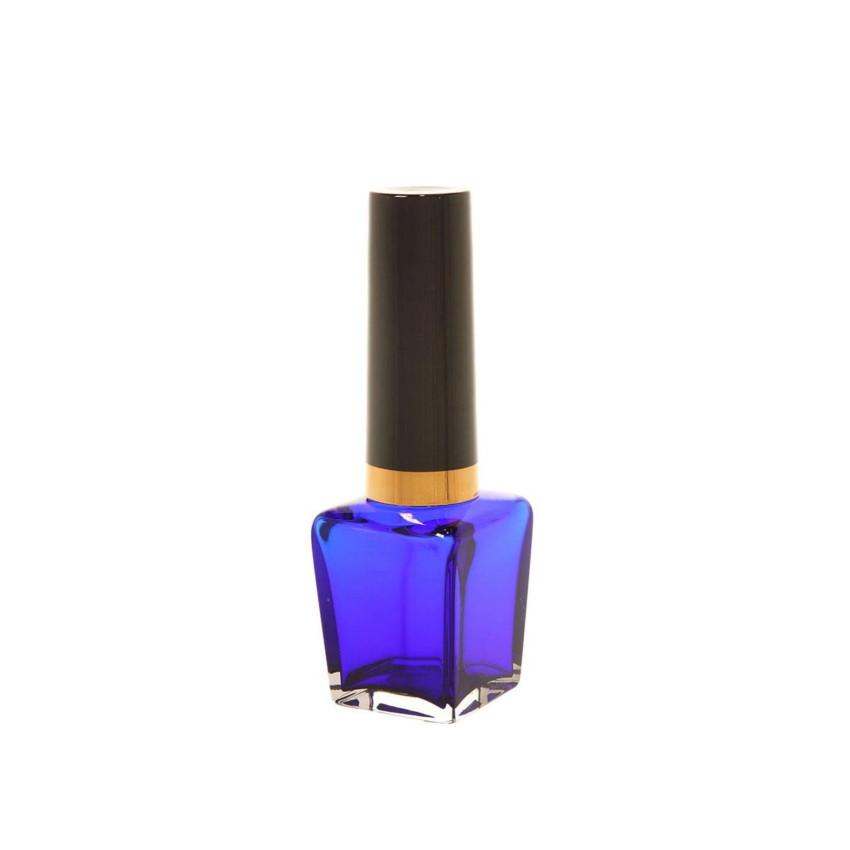 Kosta Boda Art Glass, Asa Jungnelius Make Up Square Blue Nail Polish, Limited Edition of 20