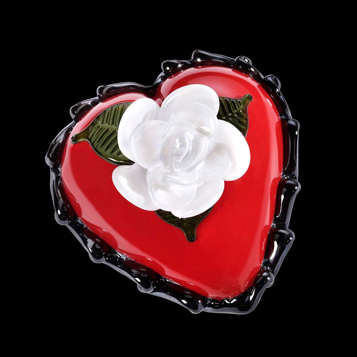 Kosta Boda Art Glass Ludvig Lofgren Old School, Red Heart