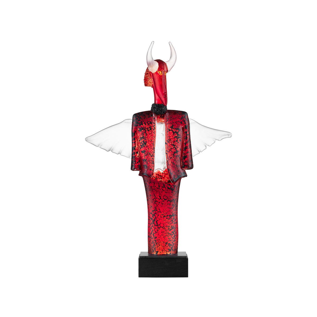 Kosta Boda Art Glass, Kjell Engman Check Man Red, Limited Edition