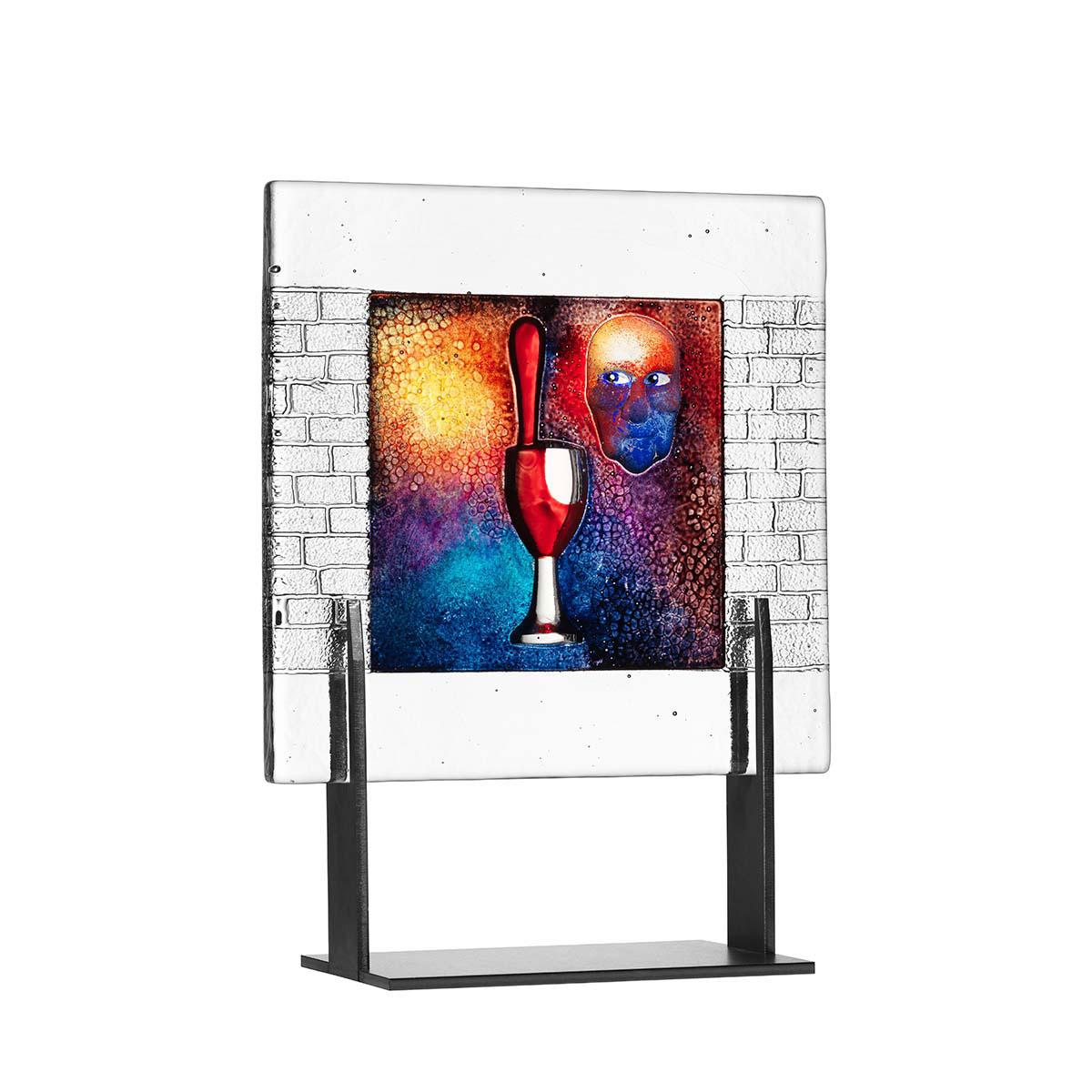Kosta Boda Art Glass, Kjell Engman Drop, Limited Edition of 60