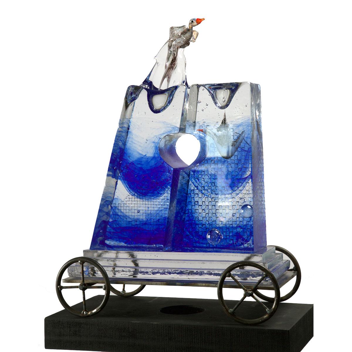 Kosta Boda Kjell Engman Split Water Limited Edition of 1 Piece