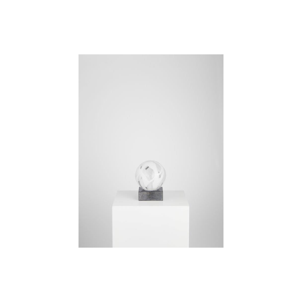 Kosta Boda Art Glass Anna Ehrner White Sphere, Limited Edition of 30