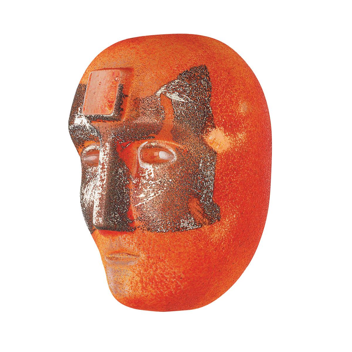 Kosta Boda Art Glass Bertil Vallien Look In Orange, Limited Edition