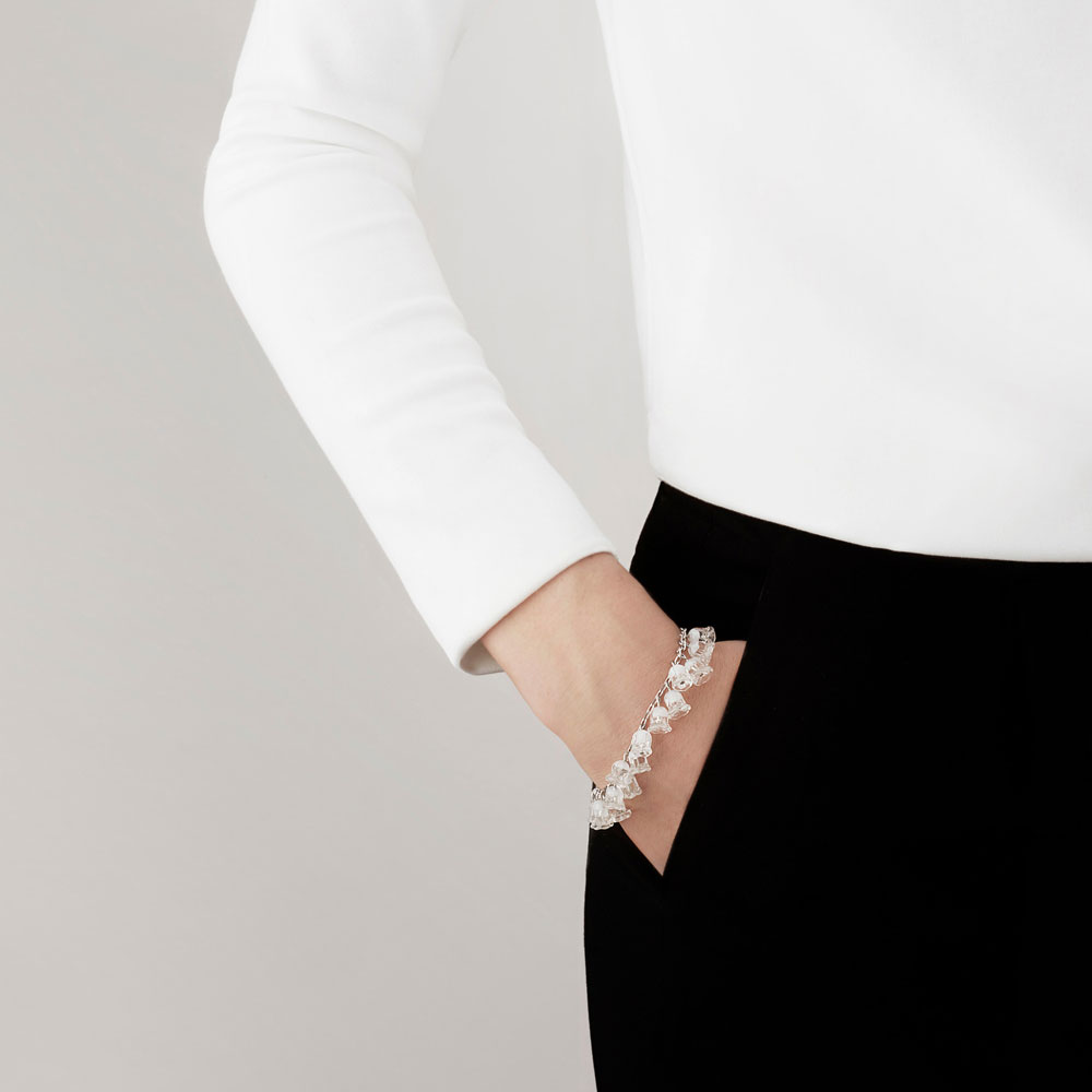 Lalique Crystal Muguet Bracelet, Clear
