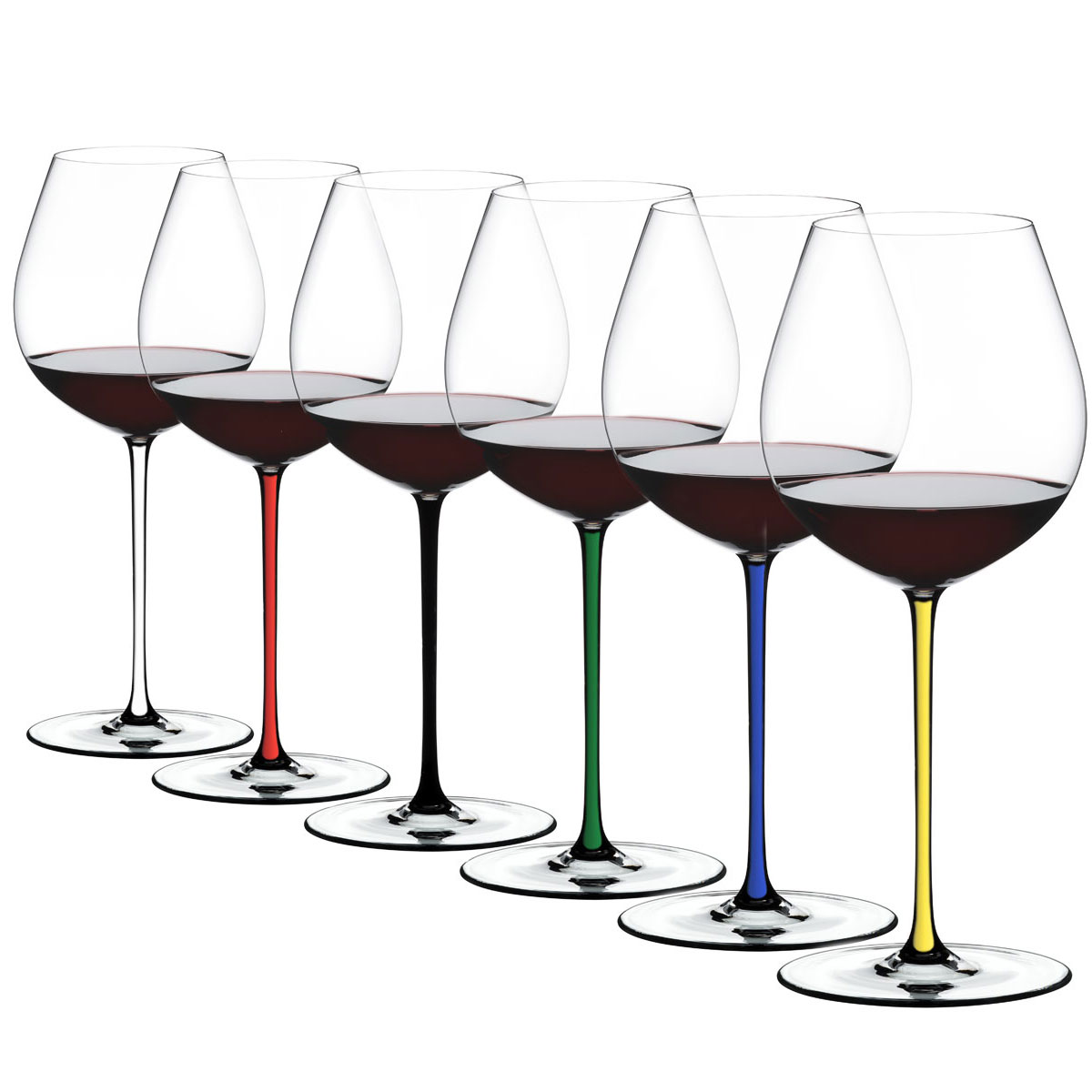 Riedel Fatto A Mano, Old World Pinot Noir Wine Glasses, Set of 6