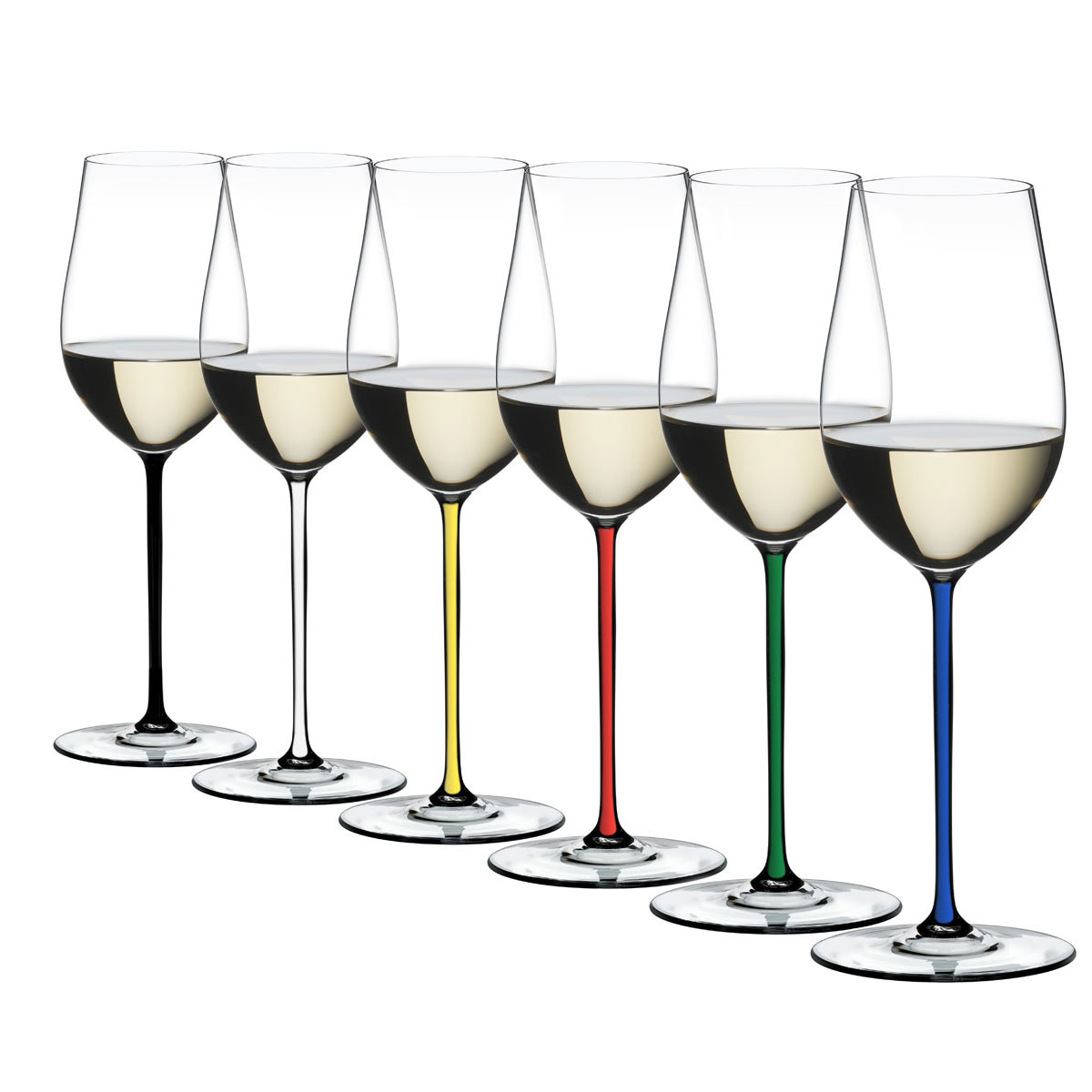 Riedel Fatto A Mano, Riesling, Zinfandel Glasses Wine Glasses, Set of 6
