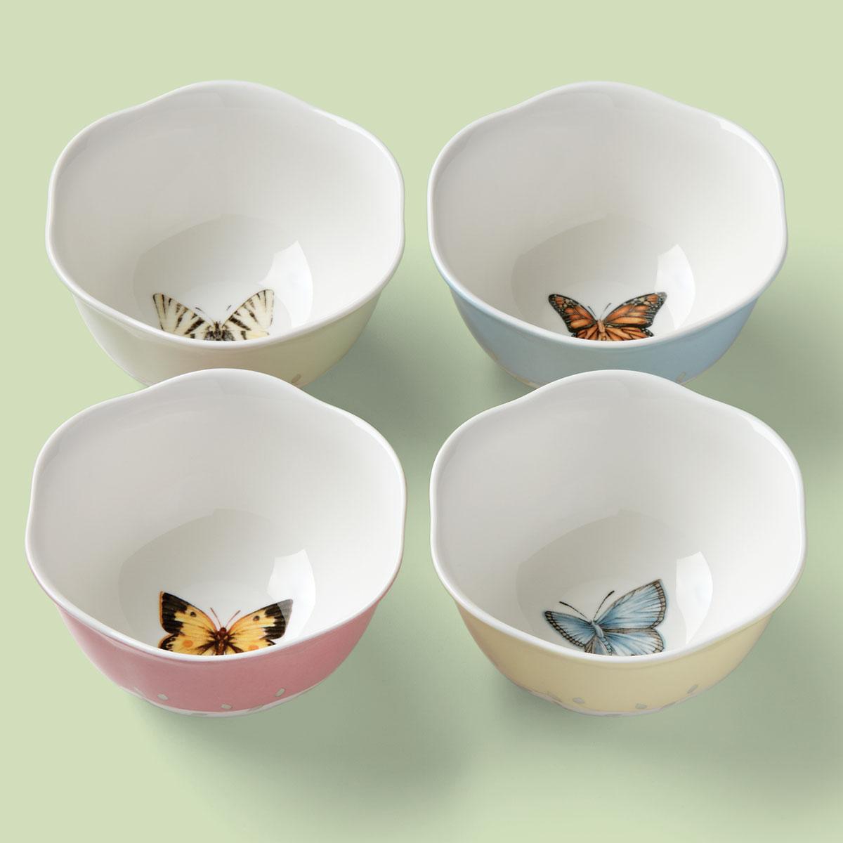 Lenox Butterfly Meadow Dinnerware Dessert Bowls Set Of Four